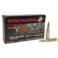 Winchester Power Max 7mm-08 Remington 140 Gr. Bonded Protected Hollow Point- Box of 20