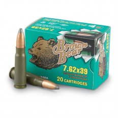 Brown Bear 7.62x39 125 Gr. SP (Bi-Metal)- Case of 500