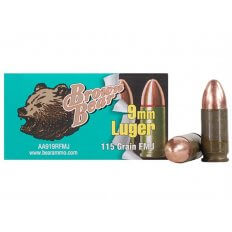 Brown Bear 9mm Luger 115 Gr. FMJ (Bi-Metal)- Box of 50