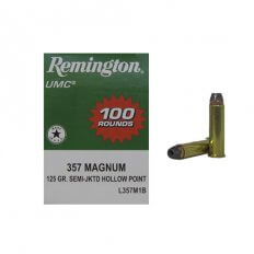 Remington UMC .357 Magnum 125 Gr. Jacketed Soft Point- Box of 100