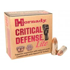 Hornady Critical Defense Lite 9mm Luger 100 Gr. FTX- Box of 25