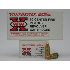 Winchester Western Super-X .30 Luger 93 Gr. Full Metal Jacket- Box of 50