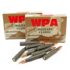 Wolf WPA Military Classic .308 Winchester 145 Gr. Full Metal Jacket (Bi-Metal) Steel Case- Case of 500