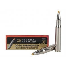 Federal Premium Ammunition 30-06 Springfield 180 Gr. Trophy Bonded Tip Box of 20