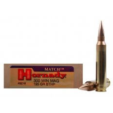 Hornady Match .300 Winchester Magnum 195 Gr. Boat Tail Hollow Point- Box of 20