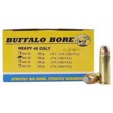 Buffalo Bore .45 Long Colt +P 300 Gr. Jacketed Flat Nose- Box of 20