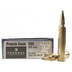 Federal Power-Shok .300 Winchester Magnum 180 Gr. Speer Hot-Cor Soft Point- Box of 20