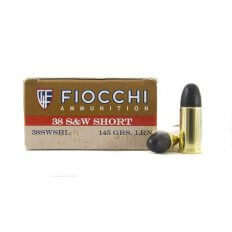 Fiocchi Cowboy Action .38 S&W Short 145 Gr. Lead Round Nose- Box of 50