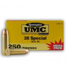 Remington UMC .38 Special 130 Gr. Full Metal Jacket- Mega Pack of 250