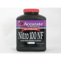 Accurate Nitro 100 New Formulation Smokeless Powder- 12 Oz. (HAZMAT Fee Required)