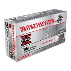 Winchester Super-X Super Match .38 Special 148 Gr. Lead Wadcutter- Box of 50