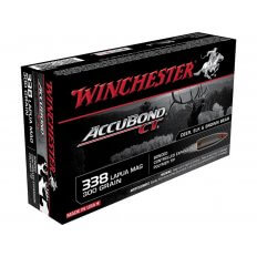 Winchester Supreme .338 Lapua Magnum 300 Gr. AccuBond- Box of 20