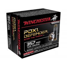 Winchester Supreme Elite Self Defense .357 Magnum 125 Gr. PDX1 Jacketed Hollow Point- Box of 20