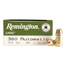 Remington UMC .380 ACP 95 Gr. Full Metal Jacket- Box of 50