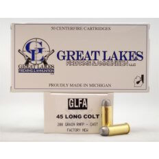 GLFA .45 Long Colt 200 Gr. Round Nose Flat Point Lead- Box of 50
