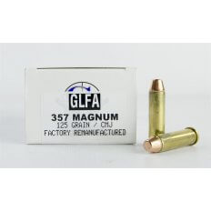 GLFA .357 Magnum 125 Gr. Plated Flat Point- Remanufactured- Box of 50