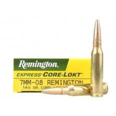 Remington Express 7mm-08 Remington 140 Gr.Core-Lokt Pointed Soft Point- Box of 20