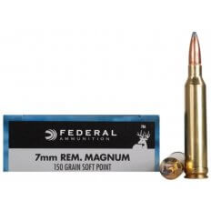 Federal Power-Shok 7mm Remington Magnum 150 Gr. Soft Point- Box of 20