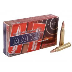 Hornady SUPERFORMANCE 5.56x45mm NATO 75 Gr. Hollow Point Boat Tail Match- Box of 20