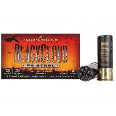 "Federal Premium Black Cloud 12 Gauge 2-3/4"" 1 oz #4 Non-Toxic FlightStopper Steel Shot- Box of 25"