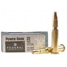 Federal Power-Shok .32 Winchester Special 170 Gr. Soft Point Flat Nose 32A