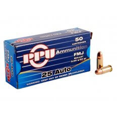 Prvi Partizan .25 ACP 50 Gr. Full Metal Jacket- Box of 50
