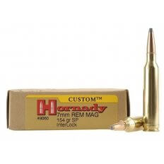 Hornady Custom 7mm Remington Magnum 154 Gr. InterLock Spire Point- Box of 20