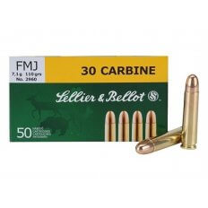 Sellier & Bellot Ammunition 30 Carbine 110 Gr. FMJ Box of 50