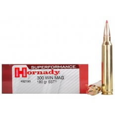 Hornady SUPERFORMANCE .300 Winchester Magnum 180 Gr. SST- Box of 20