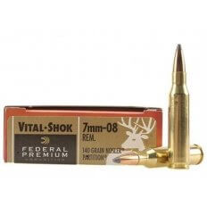 Federal Premium Vital-Shok 7mm-08 Remington 140 Gr. Nosler Partition- Box of 20
