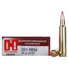 Hornady SUPERFORMANCE Varmint .223 Remington 35 Gr. NTX- Lead-Free- Box of 20