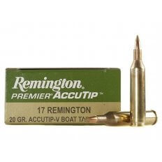 Remington Premier Varmint .17 Remington 20 Gr. AccuTip Boat Tail- Box of 20