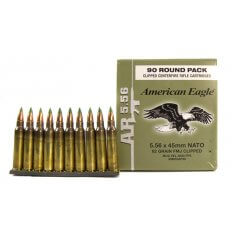 Federal American Eagle 5.56x45mm NATO 62 Gr. M855 SS109 Penetrator Full Metal Jacket XM855AF90