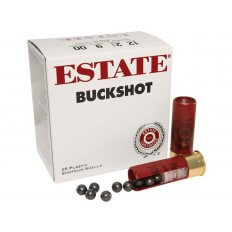 "Estate 12 Gauge 2-3/4"" 00 Buckshot 9 Pellets- Box of 25"