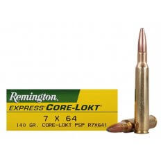 Remington Express 7x64mm Brenneke 140 Gr. Core-Lokt Pointed Soft Point- Box of 20