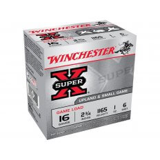 "Winchester Super-X Game Loads 16 Gauge 2-3/4"" 1 oz #6 Shot- Box of 25"