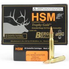 HSM Trophy Gold .270 Winchester 150 Gr. Berger Hunting VLD Hollow Point Boat Tail- Box of 20