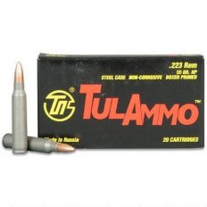 TulAmmo .223 Remington 55 Gr. HP (Bi-Metal) Steel Case Berdan Primed TA223552