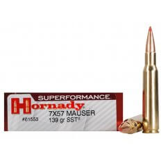 Hornady SUPERFORMANCE 7x57mm Mauser (7mm Mauser) 139 Gr. SST- Box of 20