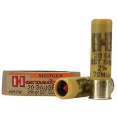 "Hornady 20 Gauge 2-3/4"" 250 Gr. SST Sabot Slug- Box of 5"
