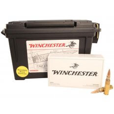Winchester 7.62x51mm NATO 147 Gr. Full Metal Jacket- Plastic Ammo Can of 120