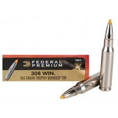 Federal Premium .308 Winchester 165 Gr. Trophy Bonded Tip- Box of 20