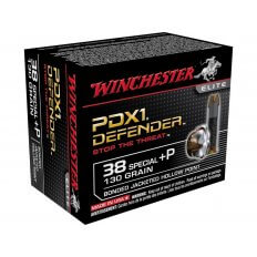 Winchester Supreme Elite Self Defense .38 Special +P 130 Gr. Bonded PDX1 Jacketed Hollow Point- Box of 20