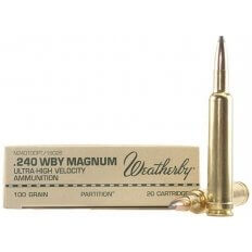 Weatherby .240 Weatherby Magnum 100 Gr. Nosler Partition- Box of 20