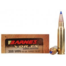 Barnes VOR-TX .308 Winchester 150 Gr. Tipped TSX Bullet Boat Tail- Lead-Free- Box of 20