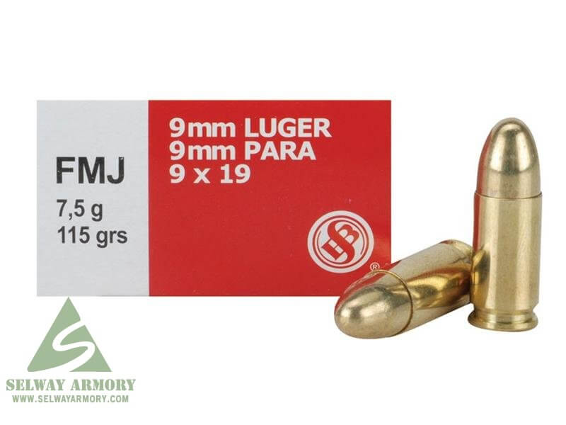 Sellier & Bellot 9mm Luger 115 Gr. FMJ- Box of 50