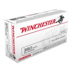 Winchester USA .380 ACP 95 Gr. Full Metal Jacket- Value Pack of 100