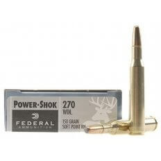 Federal Power-Shok .270 Winchester 150 Gr. Round Nose Soft Point- Box of 20