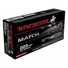 Winchester Match .223 Remington 69 Gr. Sierra MatchKing Hollow Point Boat Tail S223M2