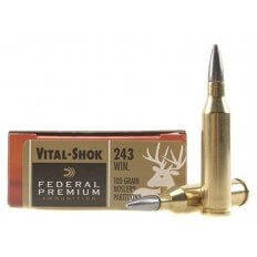 Federal Premium Vital-Shok .243 Winchester 100 Gr. Nosler Partition Moly Coated- Box of 20